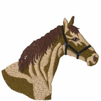 Camisa bordada de la cabeza de caballos sudadera con capucha