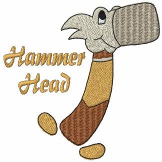 Camisa bordada de la cabeza de martillo sudadera bordada
