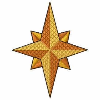 Camisa bordada de la estrella del norte del navida