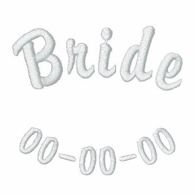 Camisa bordada de la novia