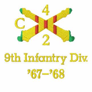 Camisa bordada de la unidad de artillería de