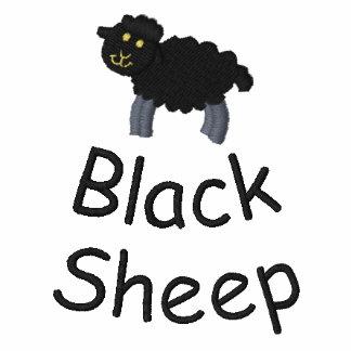 Camisa bordada de las ovejas negras