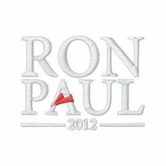 Camisa bordada de Ron Paul 2012 Chaqueta Bordada De Entrenamiento