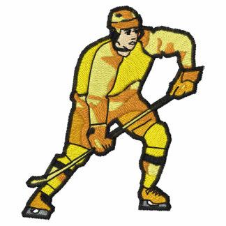Camisa bordada del juego de hockey