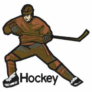 Camisa bordada del jugador de hockey
