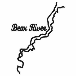 Camisa bordada del logotipo del río del oso camiseta polo bordada