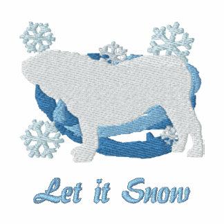 Camisa bordada dogo inglés del copo de nieve sudadera bordada