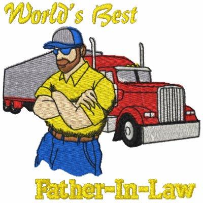 Camisa bordada el mejor camión del suegro del mund sudadera bordada con capucha