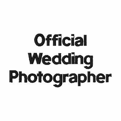Camisa bordada fotógrafo del boda polo bordado