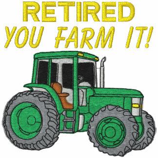 Camisa bordada granjero jubilada sudadera bordada con capucha