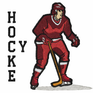 Camisa bordada hockey polo bordado
