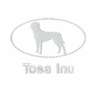 Camisa bordada Inu oval de Tosa (oscura)