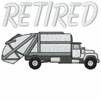 Camisa bordada jubilada del hombre de basura sudadera bordada