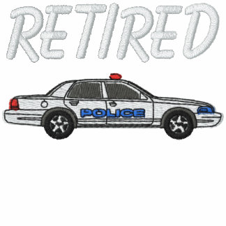 Camisa bordada jubilada del oficial de policía sudadera bordada con capucha