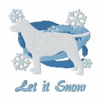 Camisa bordada labrador retriever del copo de niev sudadera con serigrafia