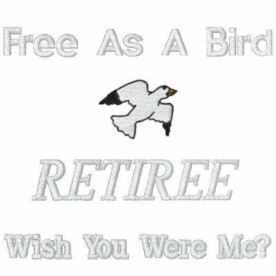 Camisa bordada libertad del jubilado