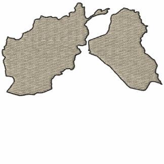 Camisa bordada mapa de Afganistán y de Iraq Polo Bordado