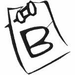 Camisa bordada monograma de la nota de la letra B Sudadera Con Serigrafia