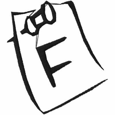 Camisa bordada monograma de la nota de la letra F Polo Enbordado