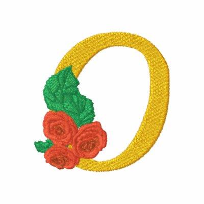 Camisa bordada monograma de los rosas de la letra  polo