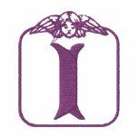 Camisa bordada monograma del ángel de la letra I Sudadera Con Serigrafía