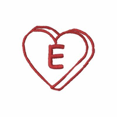 Camisa bordada monograma del corazón de la letra E