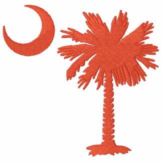 Camisa bordada Palmetto anaranjado