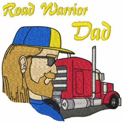 Camisa bordada papá del camionero sudadera con capucha