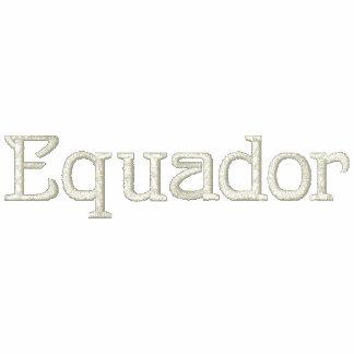 Camisa bordada patriótica del diseñador de EQUADOR
