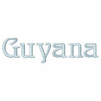 Camisa bordada patriótica del diseñador de GUYANA