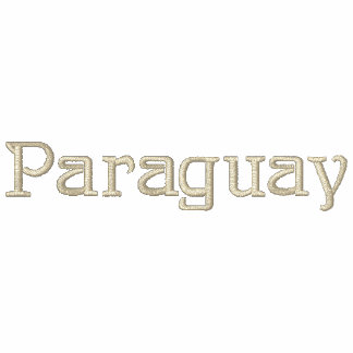 Camisa bordada patriótica del diseñador de PARAGUA