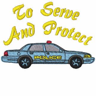 Camisa bordada policía sudadera bordada con capucha