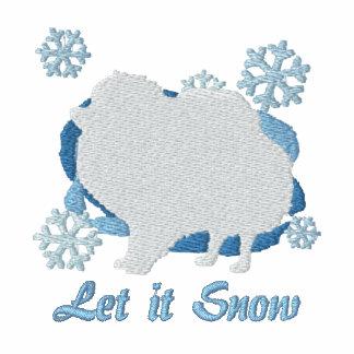 Camisa bordada Pomeranian del copo de nieve (sudad Sudadera Con Serigrafia