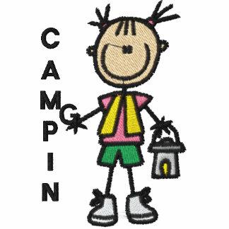 Camisa bordada que acampa