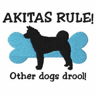 Camisa bordada regla de Akitas (camiseta)