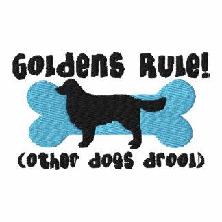 Camisa bordada regla de Goldens (camiseta)
