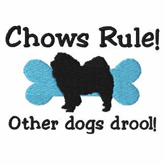 Camisa bordada regla de los perros chinos (camiset