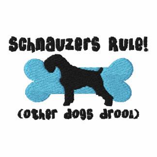 Camisa bordada regla de los Schnauzers (camiseta)