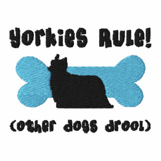 Camisa bordada regla de Yorkies (camiseta)