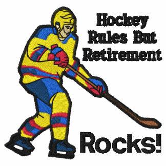 Camisa bordada retiro del hockey