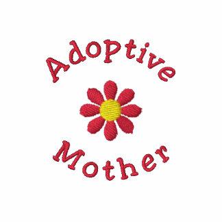 Camisa bordada roja de la madre adoptiva de la flo