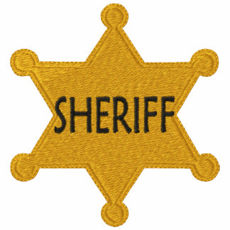 Camisa bordada sheriff camiseta polo