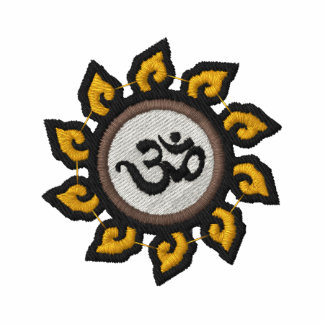 Camisa bordada símbolo de OM de la yoga