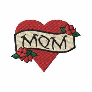Camisa bordada tatuaje del corazón de la mamá polo bordado