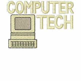 Camisa bordada tecnología del ordenador polo bordado