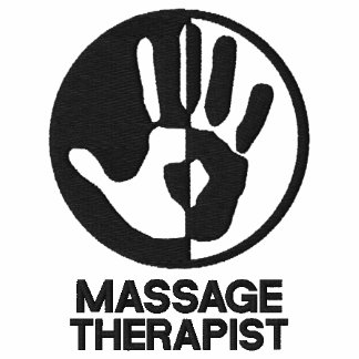 Camisa bordada terapeuta del masaje