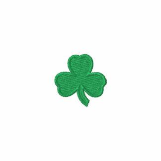 Camisa bordada trébol irlandés camiseta polo