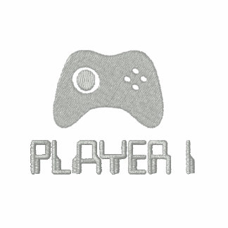 Camisa bordada videojugador sudadera bordada