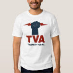 Camisa Borgoña del logotipo de TVA