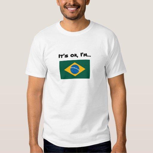 Camisa brasileña de la bandera